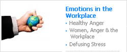 "emotion in the workplace A workplace is a social place, and social is kind of connected to the word ""emotion"", how you feel, react or interact with your colleagues is largely controlled by your feelings or emotions people find most satisfaction at the workplace if they get along well with other team members or the manager."